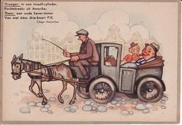 2792104WO II Teksten Clinge Doorenbos – Illustratie Th. Leusen. Vroeger: In Een Twaalf-cylinder, Rechtstreeks Uit Amer - War 1939-45