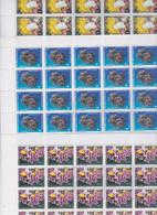 Polynésie N° 376 / 78 F XX , Merveilles Sous Marines Les 3 Feuilles De 25 Timbres, Sans Charnière, TB - Nuovi