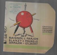 Protège Livre Baignol Et Farjon  Librairie Trempé Beauvais Place Des Halles , 2 Pièces Dont 1 Abimée , Sergent Major Pl - S