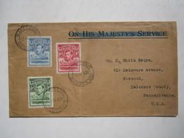 1938 BASUTOLAND COVER To USA - 1933-1964 Colonia Británica