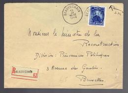 Recommandé En Franchise Militaire Affranchi Par N°748 ( Pour La Recommandation ) De Beauvechain 13 IV 1948=> Bruxelles - Altri