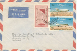 Iraq Air Mail Cover Sent To Denmark - Iraq