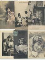 Lot De 63 Cartes Fantaisie - 36 Enfants Et 27 Couples - 5 - 99 Postkaarten