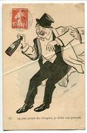 CPA Humour * Illustrateur Xavier Sager Au Plus Grand Des Ivrognes Je Dédie Son Portrait ( Homme Bouteille En Main ) PLI - Sager, Xavier