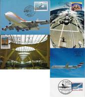 Australia Spain Austria 1983 2007 4 Maximum Card Transport Aviation Airplane Airport Helicopter Iberia Austrian Airlines - Aviones