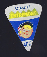 étiquette Fromage Fondu 1 Portion Triangle  Qualité Entremont 40%mg Boy - Formaggio