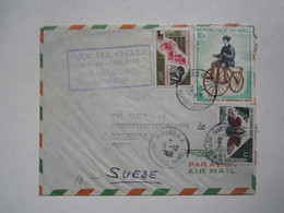 1968 MALI COVER To SWEDEN - Malí (1959-...)