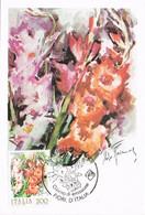 41449. Tarjeta Maxima PALLANZA (No) Italia 1983. Flowers, Flores. GLADIOLO - 1981-90: Marcophilia