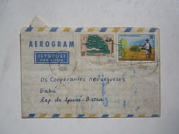 1980 SENEGAL AEROGRAMME To GUINEA-BISSAU - Senegal (1960-...)