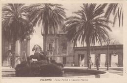 8452) PALERMO - Porta Felice E Cavallo Marino - VERY OLD ! - Palermo