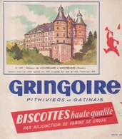 Buvard Biscottes Haute Qualité Gringoire Pithiviers En Gatinais Château De Montbéliard Doubs N° 169 - Zwieback