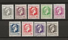 ALGERIE 1944 . Série N°s 209 à 217 . Neufs ** (MNH) . - Neufs