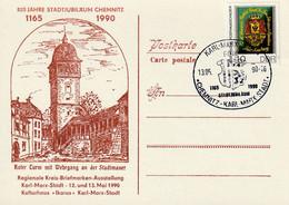 Ganzsache, Postkarte 1990 - Privatpostkarten - Ungebraucht