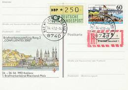 Ganzsache, Postkarte 1992 - Privatpostkarten - Gebraucht