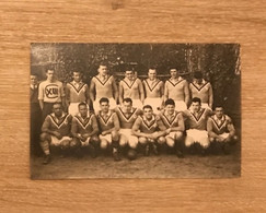 Carte Photo Equipe De France XIII 1934-1935 à Perpignan Voir Scan - Rugby