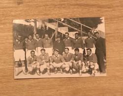 Carte Photo Equipe Villeneuve XIII 1934-1935 à Perpignan Voir Scan - Rugby