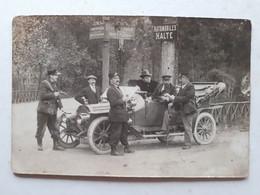 62 LE TOUQUET CARTE PHOTO VOITURE GENDARME AVEC PISTOLET UNE ARRESTATION A VOIR - Le Touquet