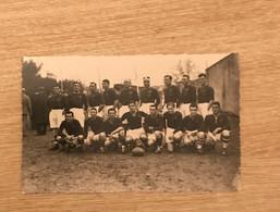Carte Photo Equipe Sélection Du Languedoc Roussillon 1935-1936 à Perpignan Voir Scan - Rugby