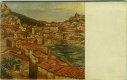 GRATTERI ( PALERMO ) ANDREA BELLI - LA CHIESA E IL CASTELLO - SPEDITA 1950 ( 7456 ) - Palermo