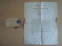 DOCUMENT + ENVOI PAUL OLIVIER GRENACHE DE COLLIOURE - 1877-1920: Semi Modern Period
