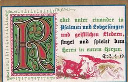 Souvenir De Confirmation  - Texte En Allemand - Psaume - Texte Commençant Par Un R Enluminé - Imágenes Religiosas