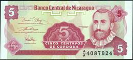 ♛ NICARAGUA 5 Centavos Nd.(1991) UNC P.168 A(1) - Nicaragua