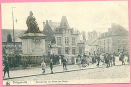 C.P.  Philippeville  =  Grand'Place   Marie-louise  1ere Reine  Des  BELGES - Philippeville