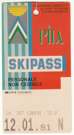 SKIPASS ABBONAMENTO GIORNALIERO PILA 1984 - Toegangskaarten