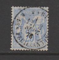 Sage Type I N Sous B  25c Outremer N°68 - 1876-1878 Sage (Type I)
