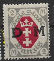 Danzig,   Guter  Ungebrauchter Wert Der Dienstmarken -Wappen-Ausgabe  Vom 25. August 1921 Mit Druckbesonderheit - Danzig