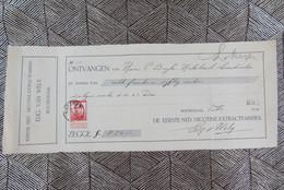 Kwijting Eerste Nederlandse Nicotine-Extractfabriek Van Wely Roosendaal 1914 - Netherlands