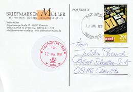 Ganzsache, Postkarte 2010 - Privatpostkarten - Gebraucht