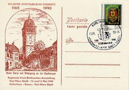 Ganzsache, Postkarte 1990 - Privatpostkarten - Gebraucht