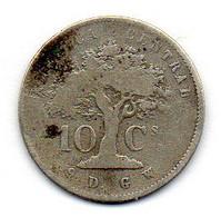 COSTA RICA, 10 Centavos, Silver, Year 1865, KM #111 - Costa Rica