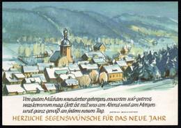 F2953 - TOP Zierold Glückwunschkarte Winterlandschaft Annaberg ??? - Verlag Max Müller Karl Marx Stadt DDR - Ohne Zuordnung