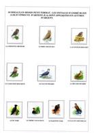 10  OISEAUX EN PETIT FORMAT LES INITIALES D'ANDRE BUZIN(A.B)ET EPREUVE(E.A)SONT APPLIQUEES ENLETTRES D'ARGENT - 1985-.. Birds (Buzin)