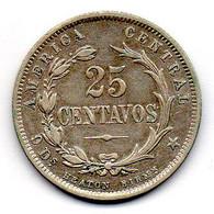 COSTA RICA, 25 Centavos, Silver, Year 1890, KM #130 - Costa Rica