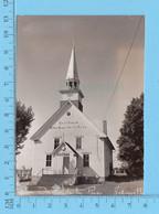 """Johnville P. Quebec - Photo Reel  Eglise """"Sanctuaire""""Notre Dame De La Paix, Acheté En 1920 (Decoupé) - Otros"""