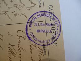 Trés Beau Cachet Hôpital Bénévole N° 14 Bis  -  MARSEILLE  -  Rue Du Paradis  -  Etablissement CHAPUIS - 1877-1920: Semi Modern Period