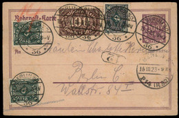 Germany 1923 Berlin Inflation Rohrpost Pneumatic Stationery Cover 82332 - Unclassified