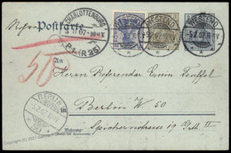 Germany 1907 Berlin Rohrpost Pneumatic Mail Cover Germania 82602 - Unclassified