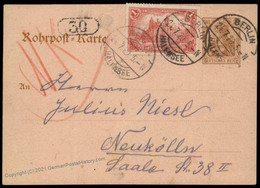 Germany 1920 Inflation Berlin Rohrpost Pneumatic Mail Cover Germania 82616 - Unclassified