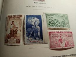 Indochine P.A. N° 20 / 23 X . La Série Des 4 Valeurs Avec Charnière, TB - Airmail