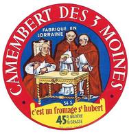 ETIQU.  CAMEMBERT DES 3 MOINES 54 S St HUBERT - Cheese