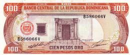 "Dominican Republic 100 Pesos Oro 1991 UNC P-136a ""free Shipping Via Registered Air Mail"" - Dominicana"