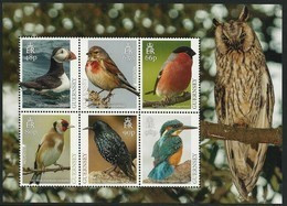 "GUERNSEY - EUROPA 2019 - NATIONAL BIRDS & SYMBOLISH.- ""AVES - BIRDS - VÖGEL - OISEAUX""-  HOJITA BLOQUE 6 V. - 2019"