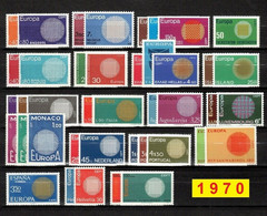 Europa CEPT 1970 Annata COMPLETA 41 Fbolli Nuovi **/MNH - 1970