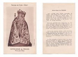 Culan, Notre-Dame De Prahas (XVIè Siècle), Statue, Vierge à L'Enfant, Manteau, Cher, 18, éd. J. Le Marigny - Santini