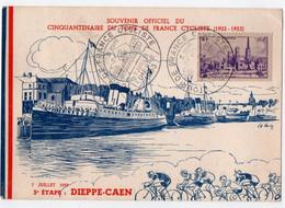 TOUR De FRANCE CYCLISTE 1953. 5ème ETAPE: DIEPPE-CAEN. - Lettres & Documents