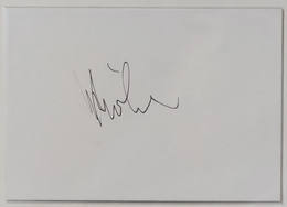 43440 088/ AUTOGRAFO Su Cartoncino - MILVA (cantante) - Autografi